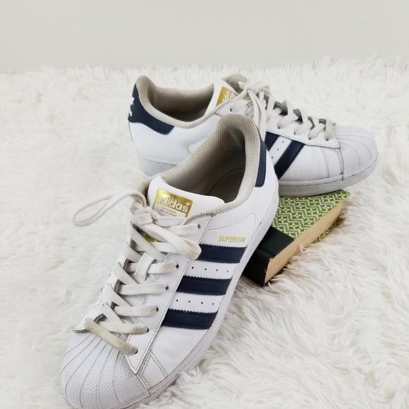 Adidas Superstar Retro Stripe Cloud &Navy Mens 8.5